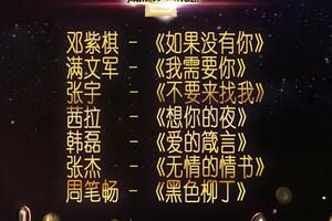 我是歌手第二季第七期歌单