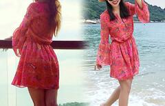 夏季度假连衣短裙图片