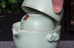 一壶两杯便携式茶具图片