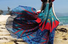 沙滩裙波西米亚海边度假长裙图片