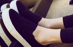 一脚蹬女鞋帆布鞋图片