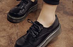 日系原宿大头皮鞋图片