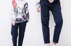 九分裤女显瘦工装裤图片