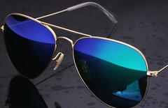 男式钢化玻璃眼镜太阳镜开车图片