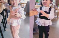 两岁女宝宝春装套装三件套图片