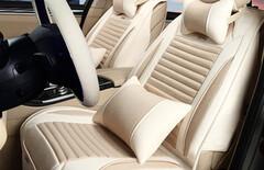汽车高档亚麻冬季座椅套图片