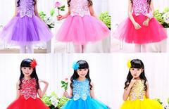 新款儿童公主裙亮片演出服图片