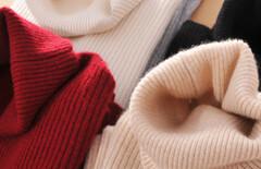 秋冬女高领套头羊毛针织衫加厚图片