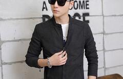 年轻韩版男装外套夹克图片