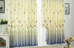 窗帘纱帘窗纱飘窗图片