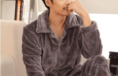 薄珊瑚绒睡衣男薄款图片