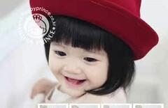 女童韩版猫耳朵羊毛昵盆帽图片