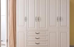 现代简约床+四门衣柜图片