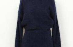 蕾丝毛衣两件套兔毛图片