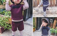 一岁男宝宝春装套装潮图片