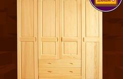3门实木衣柜推拉图片