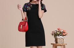 中国民族风女装短袖连衣裙图片