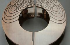 中式仿古铜大门拉手图片