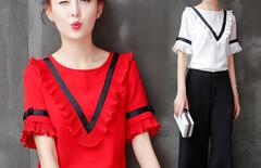 2016新款夏装女装雪纺衫图片