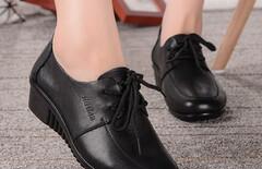 坡跟系带单鞋43码图片