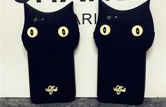 刘亦菲同款黑猫手机壳图片