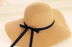 遮阳帽折叠度假出游草帽图片