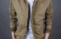 立领夹克纯棉男图片