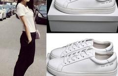 刘雯白鞋图片