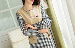 罩衣女成人韩版棉图片