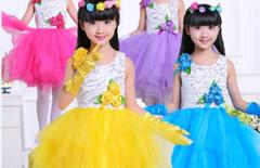 儿童演出服公主裙纱裙合唱服图片
