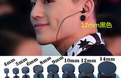 黑色环耳环图片