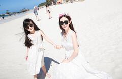 亲子沙滩海边度假母女装图片