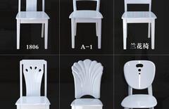实木简约现代宜家白色靠背椅子图片