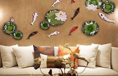 陶瓷镶铜壁饰挂件图片