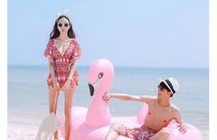 比基尼女士游泳衣沙滩度假泳装图片