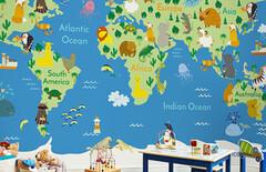 世界地图壁纸壁布图片