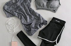 健身运动套装女三件套夏图片