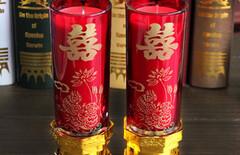 结婚蜡烛玻璃图片