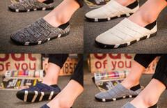 2016男士春季帆布鞋一脚蹬图片
