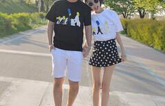 情侣套装度假夏图片