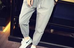 男裤运动休闲小脚裤图片