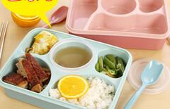 儿童餐分格餐盘饭盒图片