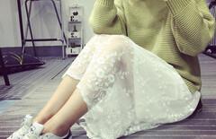 白色蕾丝裙长款图片