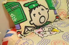 纯棉卡通儿童床上用品大口仔图片