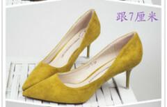 高跟鞋黄色图片