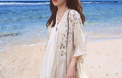 夏海边度假沙滩防晒衣图片