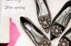 平底单鞋尖头真皮鞋图片