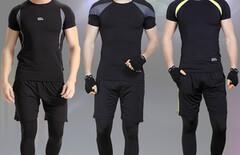 健身房运动套装夏男图片