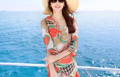 夏季连衣裙清新甜美度假沙滩裙图片