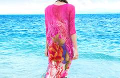 连衣裙海边度假中长款图片